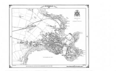 Peterhead 1868 Coloured Map - Heritage Cartography Victorian Town Map Series No. 129 (Sheet map, flat)