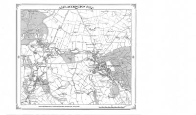 Accrington 1849 Map - Heritage Cartography Victorian Town Map Series No. 131 (Sheet map, folded)