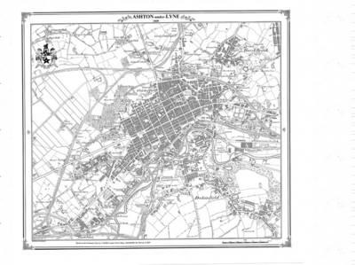 Ashton-under-Lyne 1849 - Heritage Cartography Victorian Town Map Series No. 137 (Sheet map, folded)