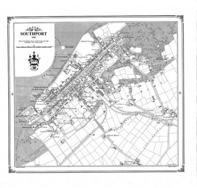 Southport 1845 Map - Heritage Cartography Victorian Town Map Series No. 147 (Sheet map)