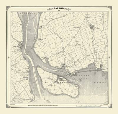 Barrow 1847 Map - Heritage Cartography Victorian Town Map Series No. 149 (Sheet map)