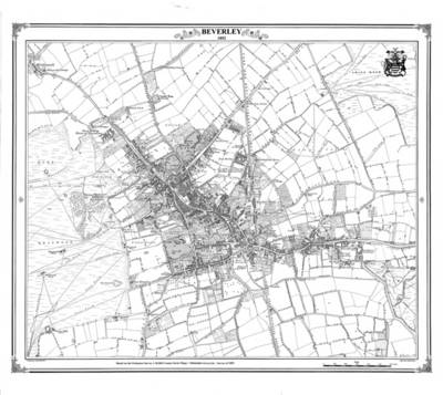 Beverley 1852 Map - Heritage Cartography Victorian Town Map Series No. 154 (Sheet map)