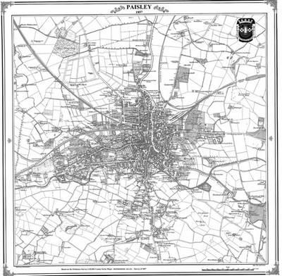 Map of Paisley 1857 by Peter J Adams  Waterstones