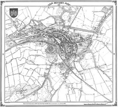 1885 Map of Devizes - Heritage Cartography Victorian Town Map Series No. 159 (Sheet map, folded)