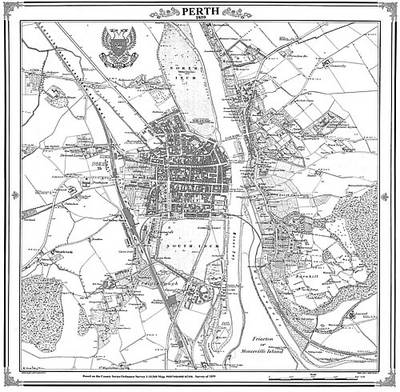 Map of Perth 1859 - Heritage Cartography Victorian Town Map Series No. 164 (Sheet map, folded)