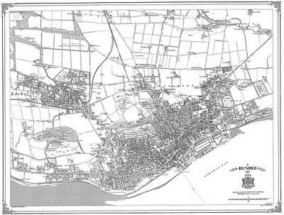Dundee 1857 Map - Heritage Cartography Victorian Town Map Series No. 165 (Sheet map, folded)