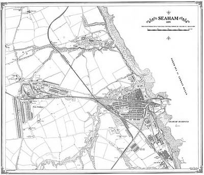 Seaham 1895 Map - Heritage Cartography Victorian Town Map Series No. 170 (Sheet map, folded)