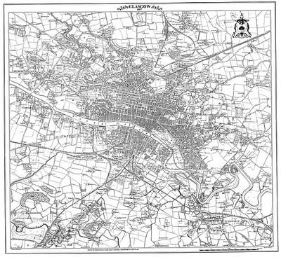 Glasgow 1857 Map - Heritage Cartography Victorian Town Map Series No. 174 (Sheet map)