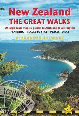 New Zealand The Great Walks: 50 Large-Scale Maps & Guides to Auckland & Wellington (Paperback)