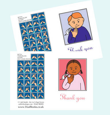 Let's Sign BSL Thank You Cards Small - Let's Sign