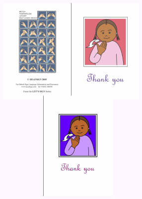 Let's Sign BSL Thank You Cards Medium - Let's Sign
