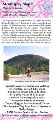 Glenmore, Ryvoan Pass to Nethy Bridge Map and Guide: No. 5: Biking (MTB) and Walking Routes -Ryvoan Pass to Nethy Bridge - Strathspey Maps and Guides No. 5 (Sheet map, folded)