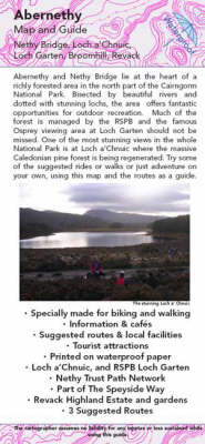Abernethy Map and Guide: Biking (MTB) and Walking Routes Around Nethy Bridge and Loch Garten (Sheet map, folded)