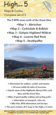Highland 5 Maps and Guides: Pack of 5 Maps and Guides in the Highlands of Scotland (Sheet map, folded)