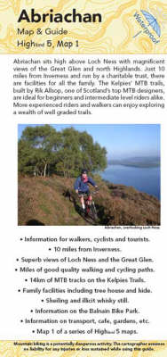 Abriachan Map and Guide: Biking (MTB) and Walking Routes at Abriachan (Sheet map, folded)