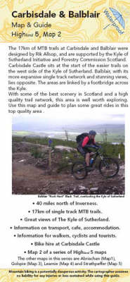 Carbisdale Abd Balblair Map and Guide: Biking (MTB) and Walking Routes by Carbisdale Castle (SYHA) (Sheet map, folded)