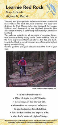 Learnie Red Rock Map: Biking (MTB) Trails on the Black Isle (Sheet map, folded)