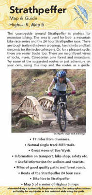 Strathpeffer Map and Guide: Biking (MTB) and Walking Routes Around Contin and Strathpeffer (Sheet map, folded)