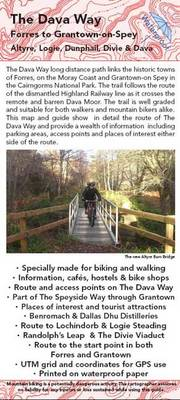 The Dava Way Map and Guide: Walking and Cycling Map of the Dava Way (Sheet map, folded)