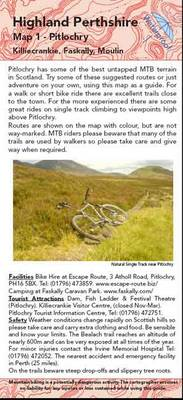 Pitlochry: No. 1: Biking (MTB) and Walking Routes Around Pitlochry - Highland Perthshire Map 1 (Sheet map, folded)