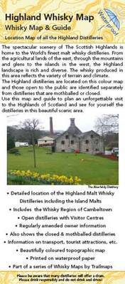 Highland Whisky Map: Map Guide to the Highland Malt Whisky Distilleries - Trailmaps Whisky Maps No. 3 (Sheet map, folded)