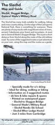 Slochd Map and Guide: Walking, Skiing and Biking (MTB) Routes - Slochd to Sluggan Bridge (Sheet map, folded)