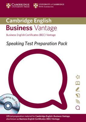 Speaking Test Preparation Pack for BEC Vantage Paperback with DVD - Speaking Test Preparation Pack