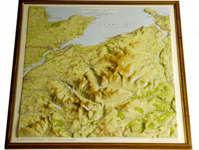 Snowdonia North Raised Relief Map: Light Wood Frame - Raised Relief Maps Series (Sheet map)