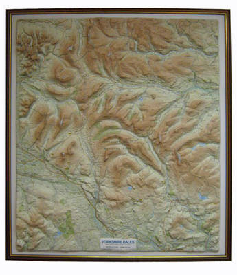 Yorkshire dales relief map waterstones yorkshire dales relief map dark wood frame raised relief maps series sheet map fandeluxe Image collections