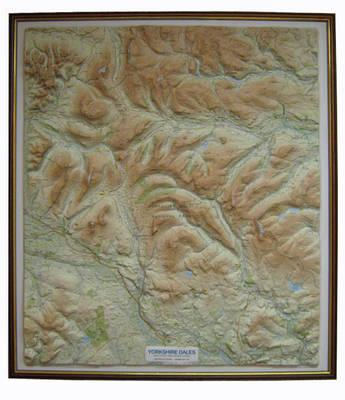 Yorkshire dales relief map waterstones yorkshire dales relief map dark wood frame raised relief maps series sheet map fandeluxe Gallery