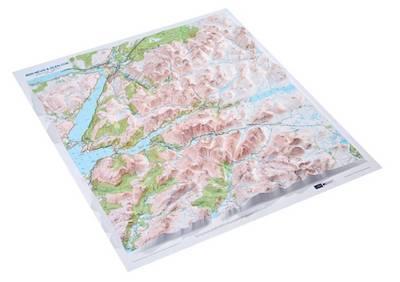 Ben Nevis & Glen Coe Raised Relief Map