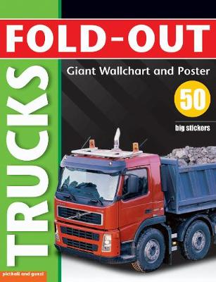 Fold-Out Trucks Sticker Book - Fold-Out Poster Sticker Books (Paperback)