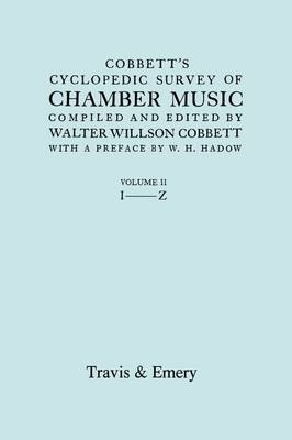 Cobbett's Cyclopedic Survey of Chamber Music. Vol.2. (Facsimile of First Edition). (Paperback)