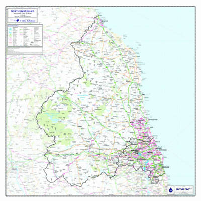 Northumberland County Planning Map: No. 1A (Sheet map, flat)