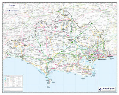 Map Of Uk Dorset.Dorset County Planning Map No 1a By Jonathan Davey Waterstones