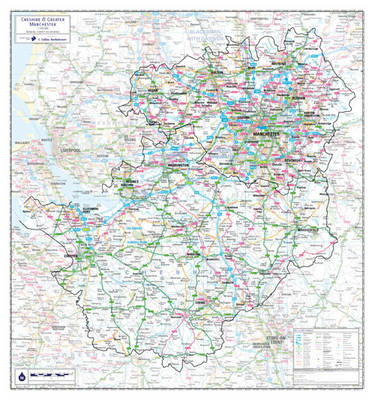 Cheshire and Greater Manchester County Planning Map (Sheet map, rolled)