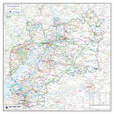Gloustershire County Planning Map (Sheet map, rolled)