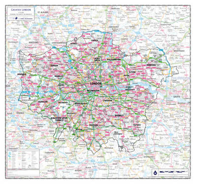 Greater London County Planning Map (Sheet map, rolled)