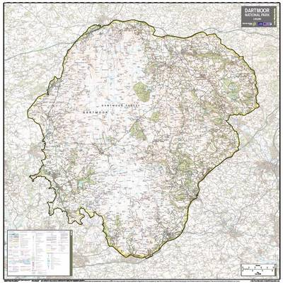 Dartmoor National Park: National Park Planning Map (Sheet map, rolled)