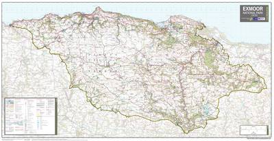Exmoor National Park: National Park Planning Map (Sheet map, rolled)