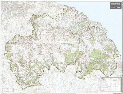 North York Moors National Park: National Park Planning Map (Sheet map, rolled)