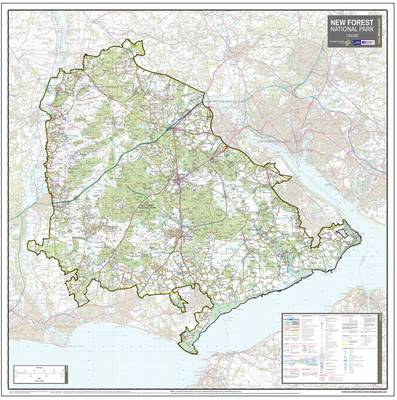 The New Forest National Park: National Park Planning Map (Sheet map, rolled)