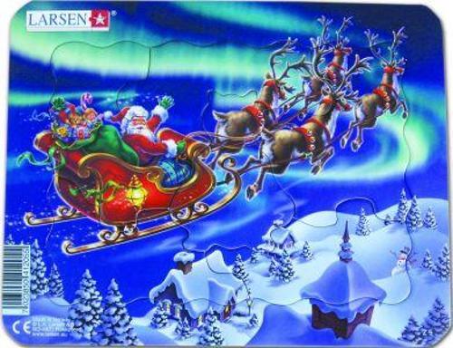 Jig-So Bach Santa a'i Sled!/Santa and his Sledge!