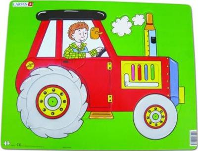 Jig-So Tractor Coch/Red Tractor
