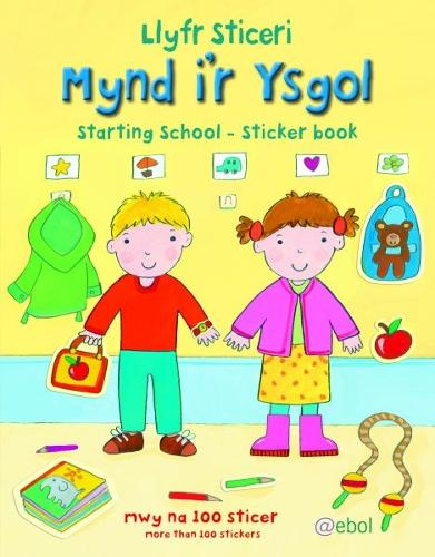 Llyfr Sticeri Mynd i'r Ysgol/Starting School Sticker Book (Paperback)