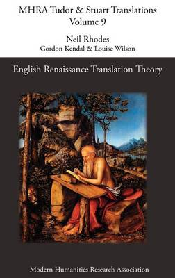 English Renaissance Translation Theory (Hardback)