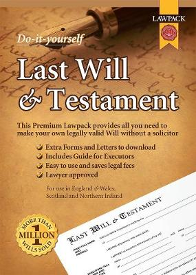 Premium Last Will & Testament Kit: All You Need to Make Your Own Legally Valid Will without a Solicitor