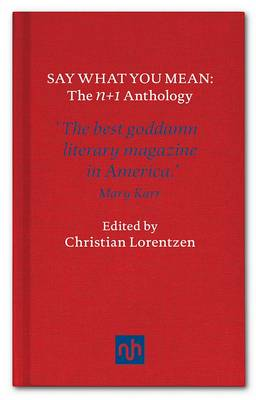 Say What You Mean: N+1, The Anthology (Hardback)