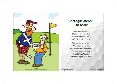 """Carnegie McCall """"The Cheat"""" - Front 9 Edition (Poster)"""