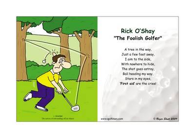 "Rick O'Shay ""the Foolish Golfer"" - Back 9 Edition (Poster)"
